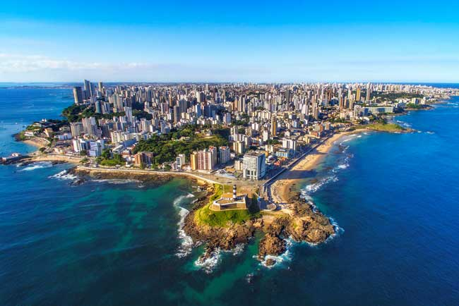 Salvador da Bahia is the capital city of the Bahia state.