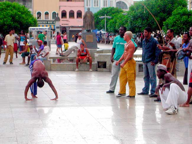 In the streets of Salvador da Bahia you can see some African culture heritage like Capoeira.